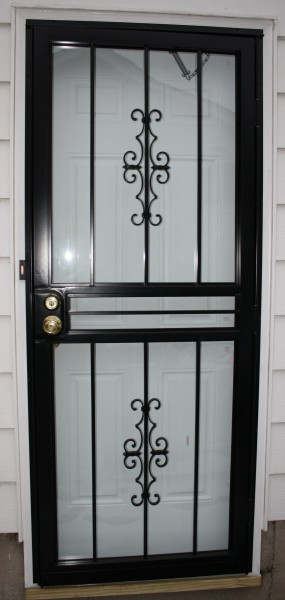Black Wrought Iron Security Storm Door - Free High Resolution Photo