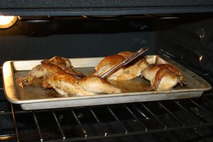Cornish Game Hens on Oven Rack with Meat Thermometer - Free High Resolution Photo