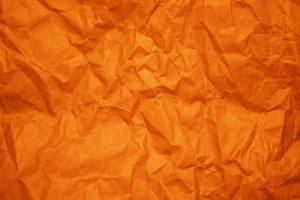 Crumpled Orange Paper Texture - Free High Resolution Photo