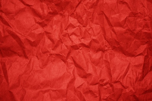 Crumpled Red Paper Texture - Free High Resolution Photo