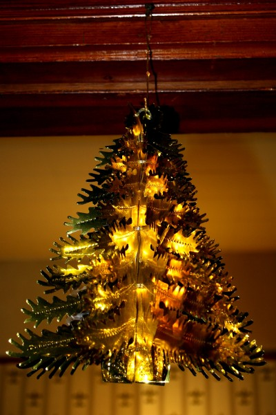 Gold Foil Christmas Tree Decoration - Free High Resolution Photo