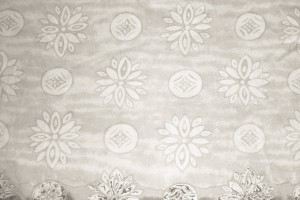 Gray Fabric Texture with Flowers and Circles - Free High Resolution Photo