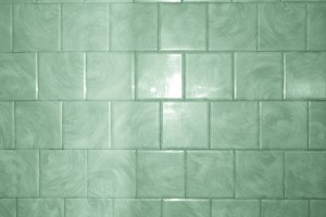Green Bathroom Tile with Swirl Pattern Texture - Free High Resolution Photo