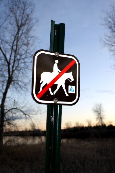 No Horseback Riding Allowed Sign - Free High Resolution Photo