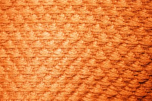 Orange Diamond Patterned Blanket Close Up Texture - Free High Resolution Photo