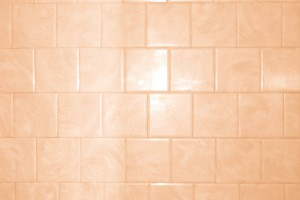 Peach or Orange Bathroom Tile with Swirl Pattern Texture - Free High Resolution Photo