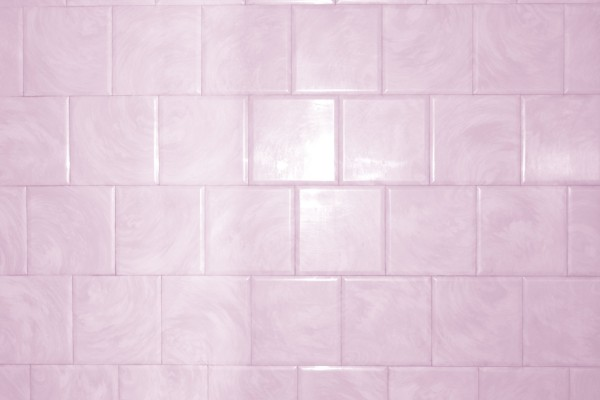 Pink Bathroom Tile with Swirl Pattern Texture - Free High Resolution Photo
