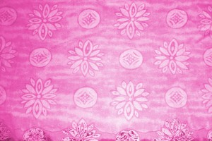 Pink Fabric Texture with Flowers and Circles - Free High Resolution Photo