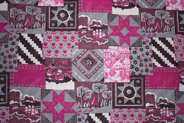 Pink Patchwork Quilt Fabric Texture - Free High Resolution Photo