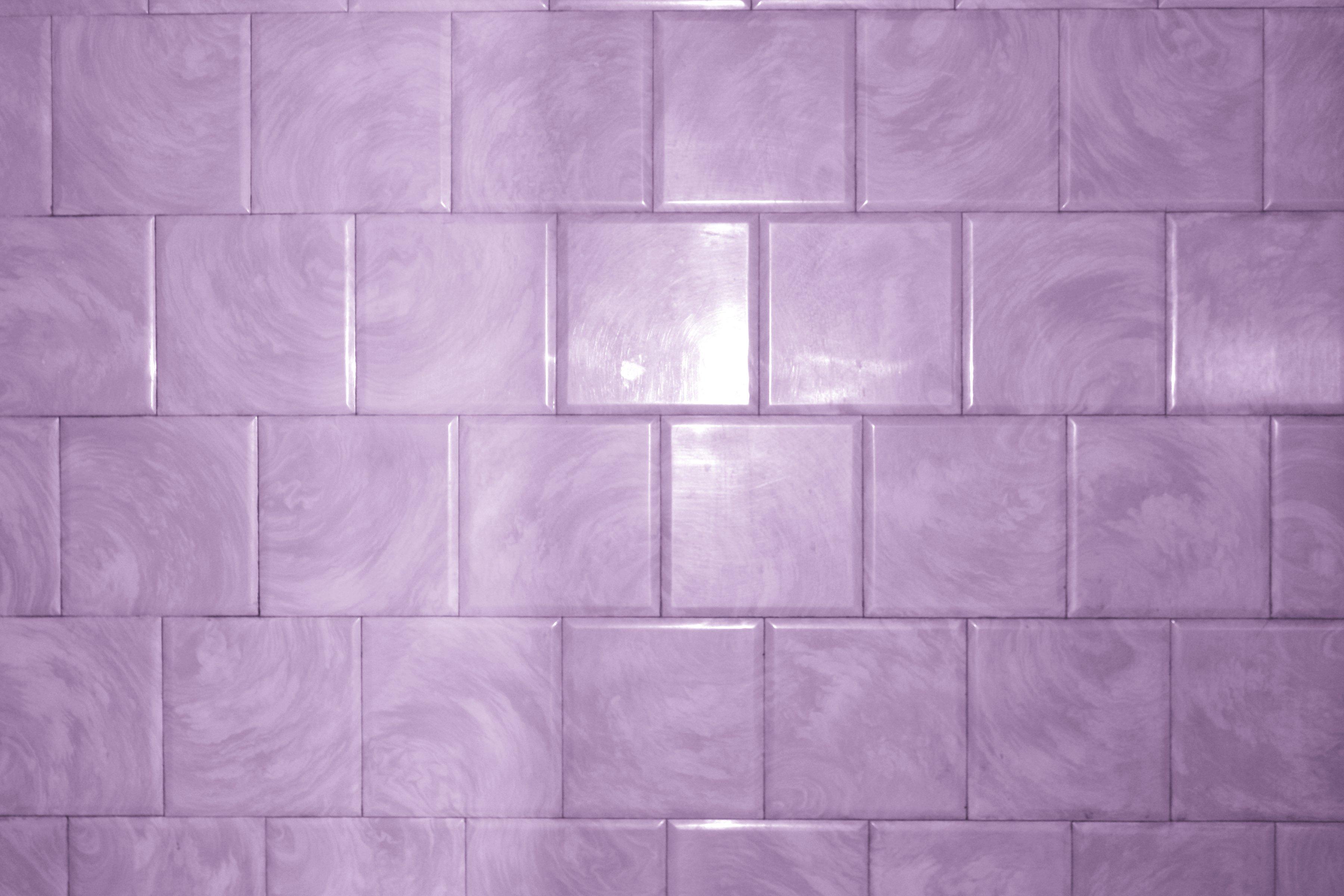 Purple Bathroom Tile With Swirl Pattern