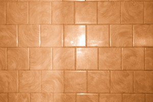 Rust Orange Bathroom Tile with Swirl Pattern Texture - Free High Resolution Photo
