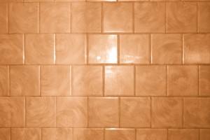 Rust Orange Bathroom Tile with Swirl Pattern Texture - Free High Resolution Photo
