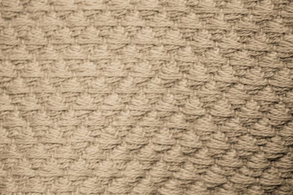 Tan Diamond Patterned Blanket Close Up Texture - Free High Resolution Photo