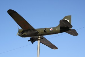 WWII Model Airplane with Paratrooper - Free High Resolution Photo