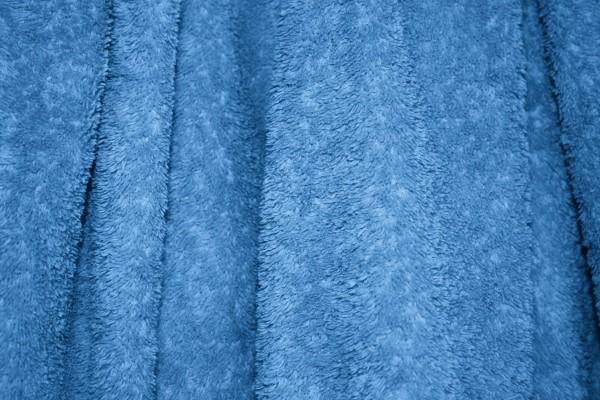 Blue Terry Cloth Bath Towel Texture - Free High Resolution Photo