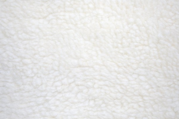 Fleece Faux Sherpa Wool Fabric Texture Natural Cream - Free High Resolution Photo