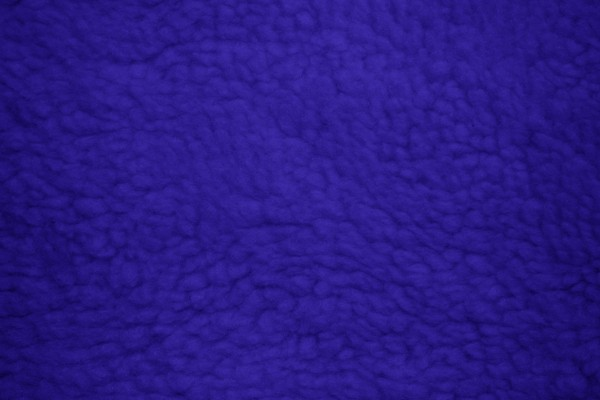 Fleece Faux Sherpa Wool Fabric Texture Royal Blue - Free High Resolution Photo