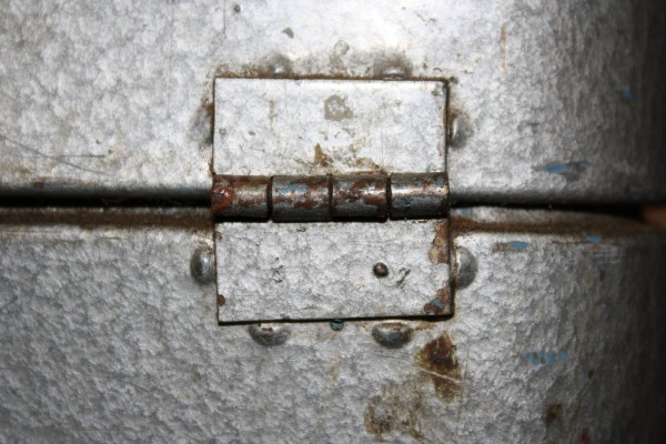 Hinge on Old Metal Toolbox - Free High Resolution Photo