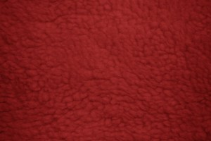Red Fleece Faux Sherpa Wool Fabric Texture - Free High Resolution Photo