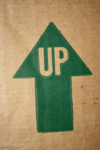 Up Arrow on Cardboard Box - Free High Resolution Photo