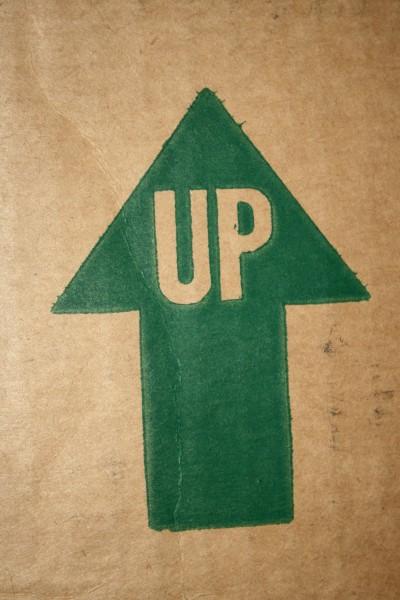 Up Arrow on Cardboard Box - Free High Resolution Photo
