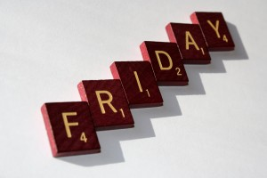 Friday - Free High resolution photo of Scrabble letter tiles spelling the word Friday