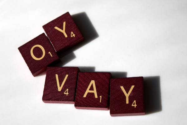 Oy Vay - free High resolution photo of scrabble letter tiles spelling the words Oy Vay