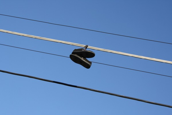 Shoes Hanging from Power Lines - Free High Resolution Photo