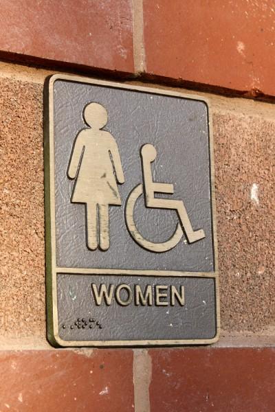 Women's Restroom Sign Brass Plaque - Free High Resolution Photo