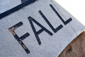 Fall - free high resolution photo of the word fall - part of a sidewalk solar calendar