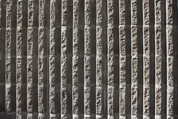 Fluted Concrete Block Wall Texture with Vertical Ridges - Free high resolution photo