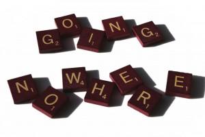 Going Nowhere spelled in Scrabble letter tiles - Free high resolution photo