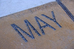 May - Free high resolution photo of the word May - part of a sidewalk solar calendar