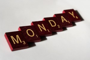 Monday - Free high resolution photo of Scrabble letter tiles spelling Monday