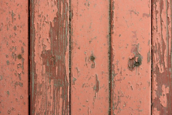 Peeling Red Paint on Old Wooden Boards Texture - Free High Resolution Photo