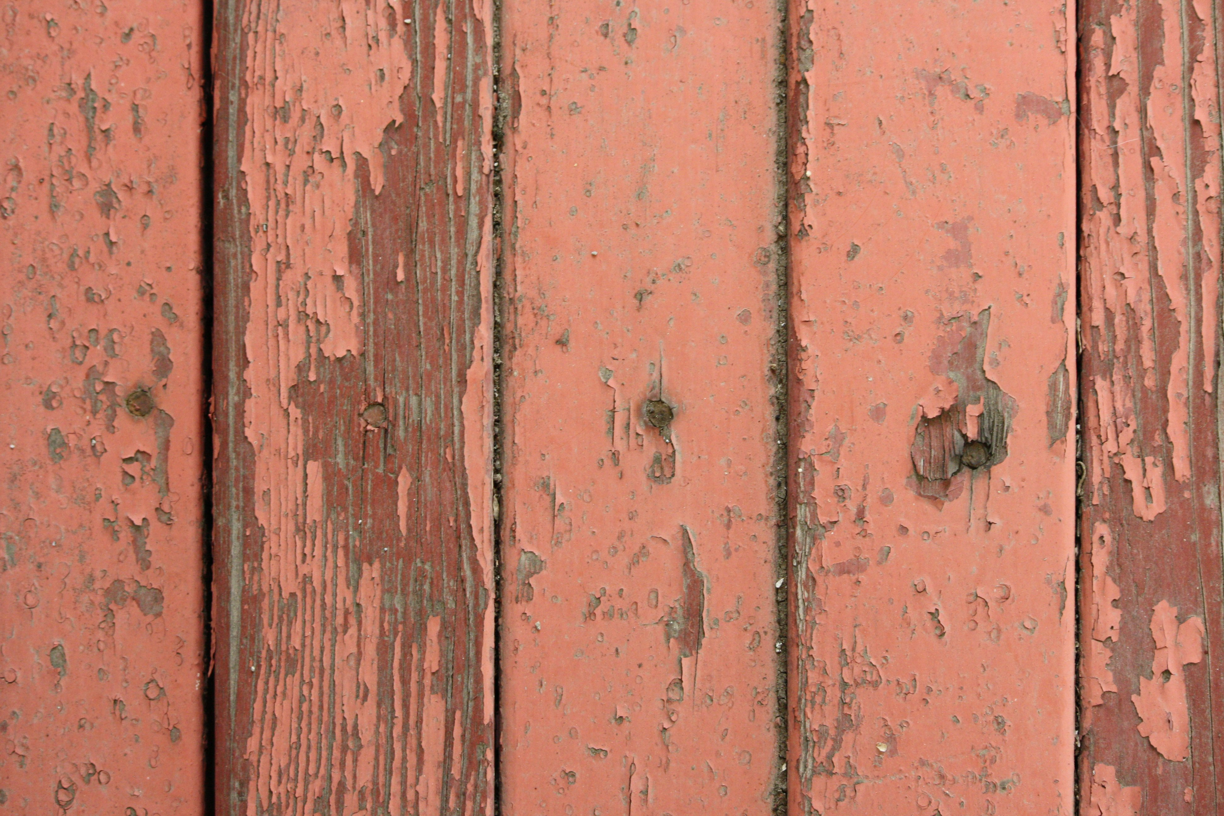 Peeling Red Paint On Old Wooden Boards Texture Picture
