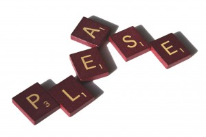 Please spelled in Scrabble letter tiles - Free High Resolution Photo