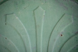 Raised Arrow Design on Grungy Old Green Metal Texture - Free High Resolution Photo