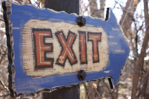Safari Themed Exit Sign - Free High Resolution Photo