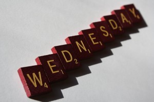 Wednesday - Free high resolution photo of Scrabble letter tiles spelling the word Wednesday