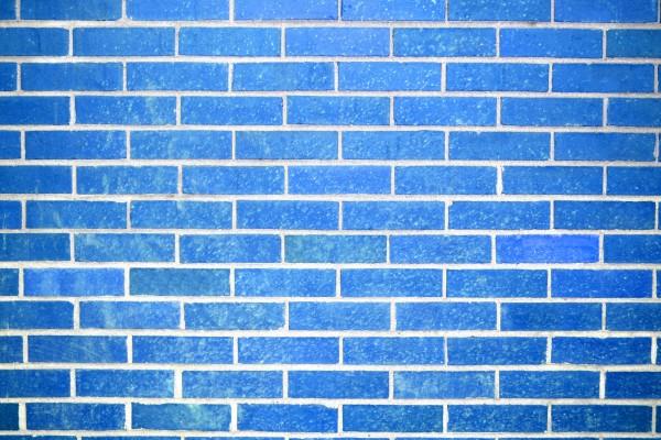 Sky Blue Brick Wall Texture - Free High Resolution Photo