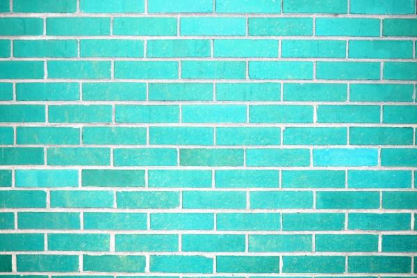 Teal Brick Wall Texture - Free High Resolution Photo