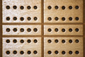 Wooden Cribbage Board with Peg Holes Texture - Free High Resolution Photo
