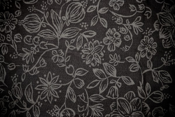 Black Fabric with Floral Pattern Texture - Free High Resolution Photo