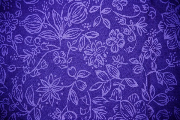 Blue Fabric with Floral Pattern Texture - Free High Resolution Photo