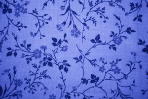 Blue Floral Print Fabric Texture - Free High Resolution Photo