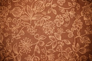 Brown Fabric with Floral Pattern Texture - Free High Resolution Photo