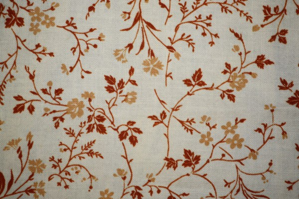 Brown on White Floral Print Fabric Texture - Free High Resolution Photo