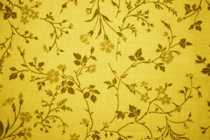 Gold Floral Print Fabric Texture - Free High Resolution Photo