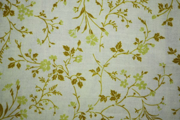 Gold on White Floral Print Fabric Texture - Free High Resolution Photo